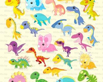 SALE - Limited Time Offer -  Lovely Dinosaur Clip Art set