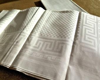 6 antique linen damask Napkins