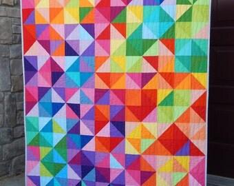 Postcard From Sweden Modern Lap Quilt