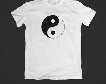 Yin Yang T shirt  Tai Chi yoga symbol tshirt shirt tee printed on 100% cotton shirts, various sizes available