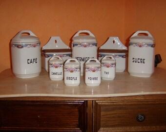 Ceramic jars set 9teilig antiques