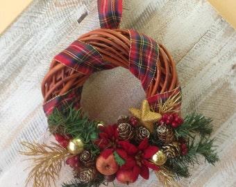 braided wreath decorated