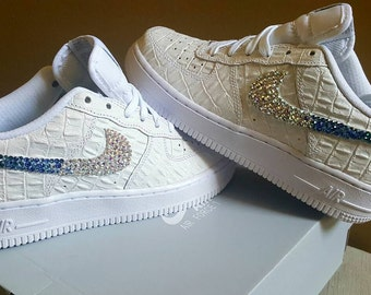 Crystal Air Force Ones (White shoe included)