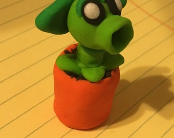 Plants vs. Zombies polymer clay figure