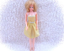 Mattel 1966 Barbie Yellow Dress Blond Crown Prom Queen Doll Curls 60s Vintage Gold Golden Blonde Rare Htf Scarce Dolly Figure Clothes 1960s