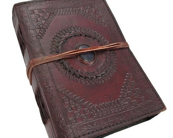 Lapise Stone Stitched Blank Leather Journal notebook sketchbook dairy