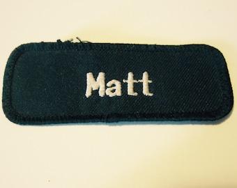 "Vintage ""Matt"" Name Patch"