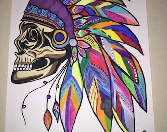 Hippie Headress Painting