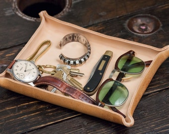 Natural Vegetable Tanned Leather Catchall Tray
