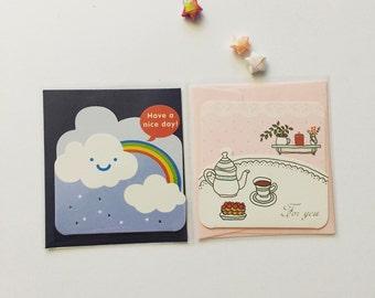 Mini Greeting Cards Set (2 pcs)