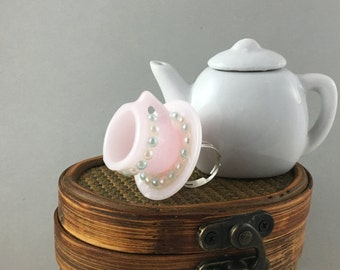 A Spot of Tea statement ring