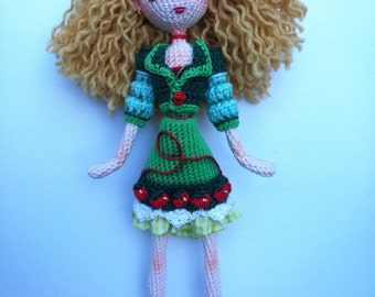 MISS strawberry, fully done a hand crochet.
