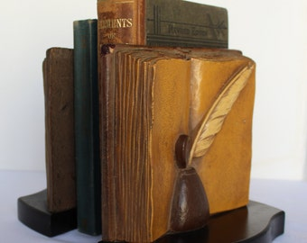 Syroco Wood Bookends
