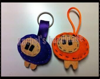 brooch Sheep - keychain - felt brooch - keychains
