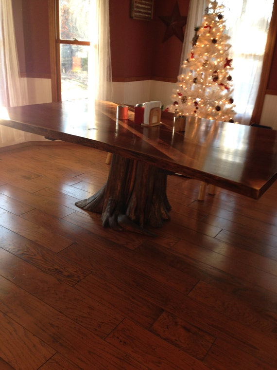 Stump Table, Rustic Table, Live Edge Table, Walnut Dining Table