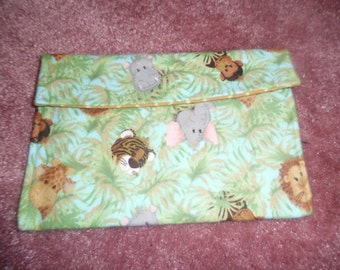 Jungle animal baby diaper/ wipes pouch