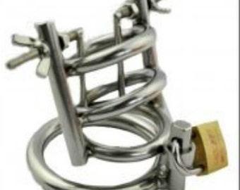 Penis cage with Harnröhrenspreizer, cock cage