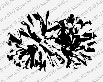 Pom pom SVG Vector Graphic Download DXF PNG Ai Eps Multiple Format Perfect - Pom pom graphic for Silhouette and Cricut Cut Files