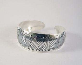 Gypsy Jewelry Cuff Bracelet - Sterling  Silver