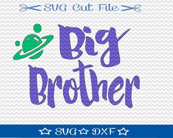 Big Brother SVG File / SVG Cut File /  SVG Download / Silhouette Cameo / Digital Download / Little Boy svg