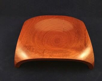 Square mahogony bowl