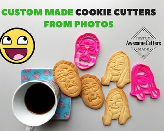Custom Portrait Cookie Cutter.Brand New.Perfect Gift.Party Favor. Portrait Cookie Cutter