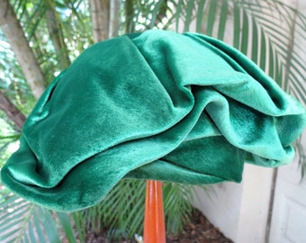 Early Vintage Green Velvet Hat - Mr. John Jr. Tam