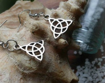 Goddess Earrings Pagan Witch Triquetra Jewlery