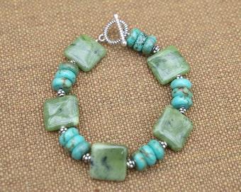 Jade and Turquoise Bracelet