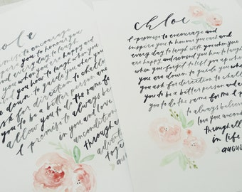 Custom Wedding Vows