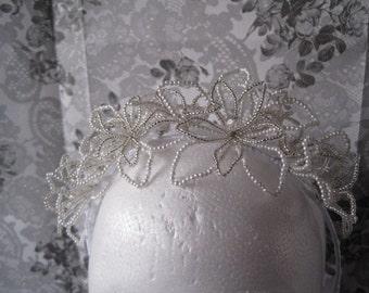Bridal Tiara - Handmade Floral Bridal Tiara (Snowflake)