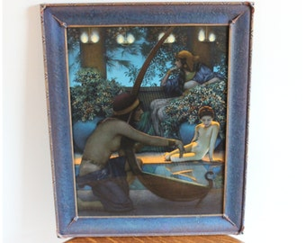 M4195 Authentic  Maxfield Parrish Original Art Print/Lithograph  'Egypt' Large
