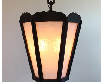 A1196 Vintage Arts & Crafts, Craftsman, Tudor, French Ceiling Lantern Pendant Light