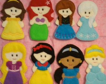 Finger Puppets Princess Inspired