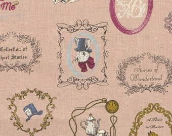 Alice in Wonderland fabric by Kokka