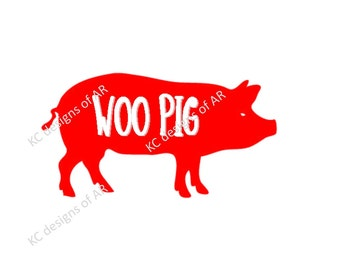 Woo Pig  Pig SVG, PNG, JPG for Silhouette, Cricut