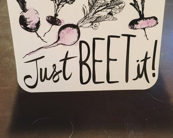 Just beet it greetig card