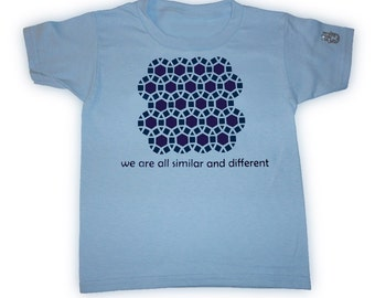 Tessellations II T-Shirt Light Blue Size 4T