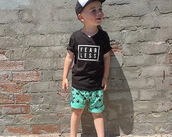 Kids Fearless Printed Tees