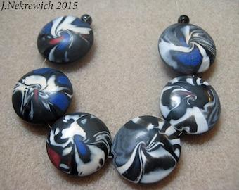 Polymer Clay Lentil Beads