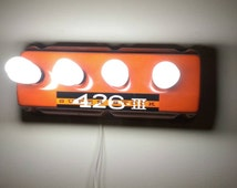 Custom made Hemi valve cover light for garage or man cave.