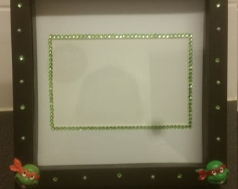 hand decorated box photo frame