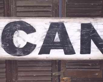 "7"" x 48"" ""Vacancy"" vintage style sign"