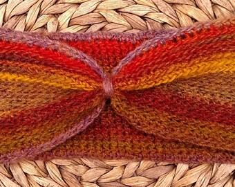 Crocheted Headband Earwarmer in Mesa Color