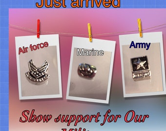 Army, Marine and Air Force beads