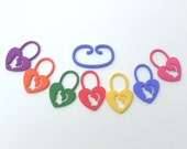 Cat in a Heart 3D Printed Stitch Markers