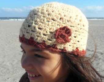 New 2016 Lovely warm autumn/winter  beanie hat for girls up to 10 years