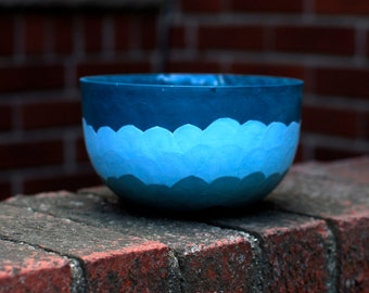 Ceramic Soup Bowl- Shades of Blue