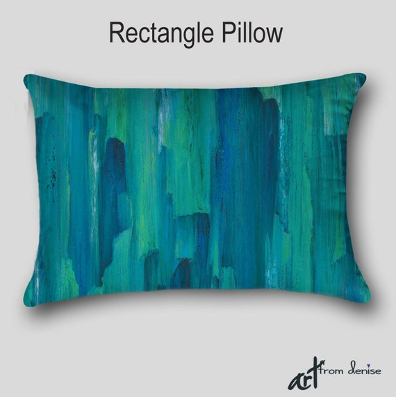 Designer Throw Pillow Teal Turquoise Blue Green Home Decor