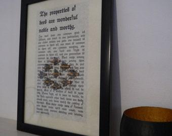 Framed Bee Print